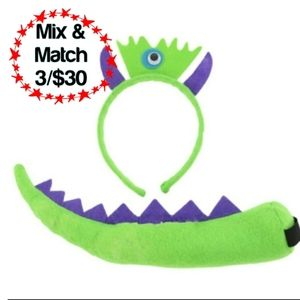 🔹️Monster Costume Headband & Tail